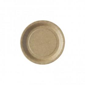 Assiette ronde en carton brun 23cm - Colis de 500