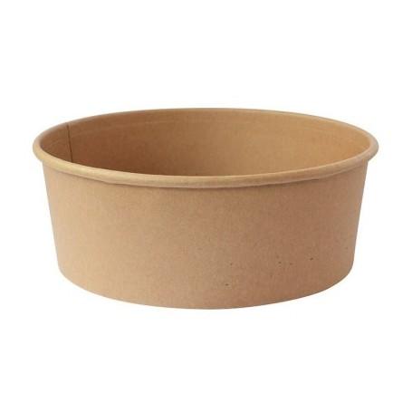 Pot à salade en carton kraft 1100ml - Colis de 300