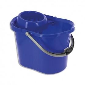 Seau 15 litres bleu avec système d'essorage
