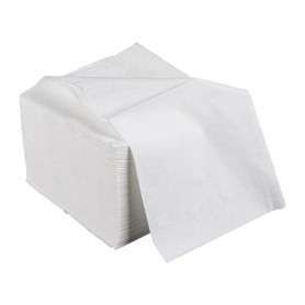 Serviettes de table 1 pli blanches 30x30cm  - Colis de 5000