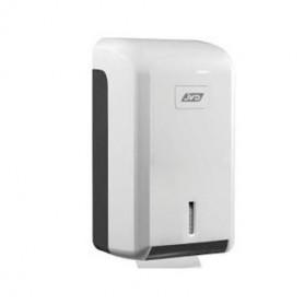 Distributeur papier toilette feuille à feuille capacité 400 F en ABS