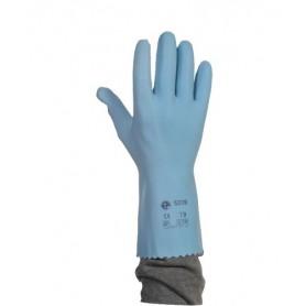 Gants latex bleu sur jersey - La paire