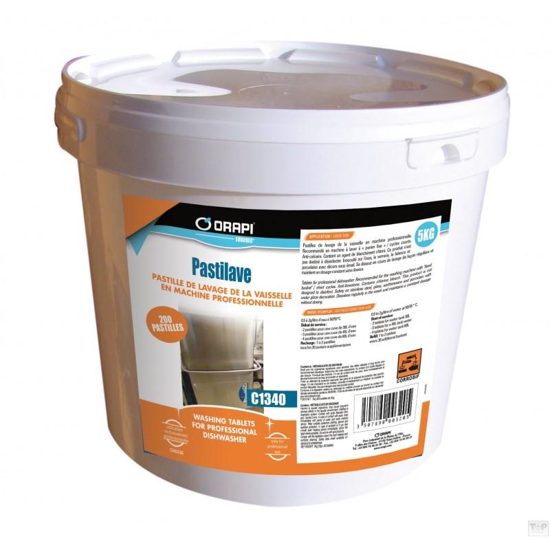 pastilles lave vaisselle chlor e 5kg seau de 200p de 25g halvea. Black Bedroom Furniture Sets. Home Design Ideas