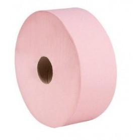 Papier toilette Maxi Jumbo Rose 1 pli 600m - Colis de 6 rouleaux