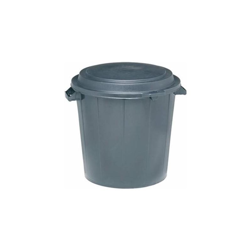 poubelle basse ronde 80 litres unit halvea. Black Bedroom Furniture Sets. Home Design Ideas