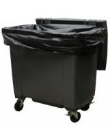 Housse container 660 Litres Renforcé Noir - Colis de 50