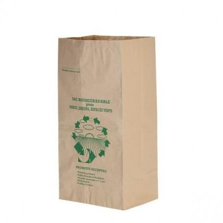 Sac Kraft pour déchets verts 100 Litres - Colis de 25 sacs